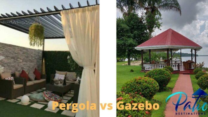 Pergola vs gazebo