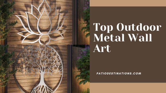outdoor metal wall art