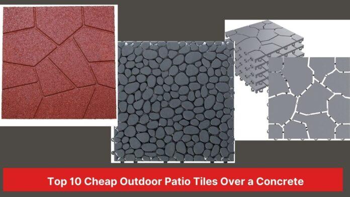 outdoor patio tile over concrete